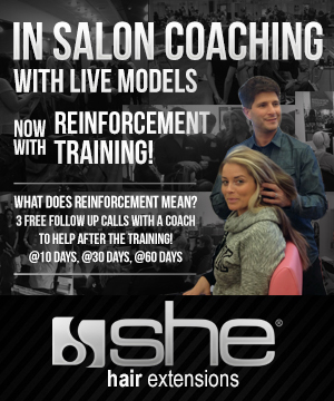 In Salon Coaching with Live Models from SHE Hair Extensions