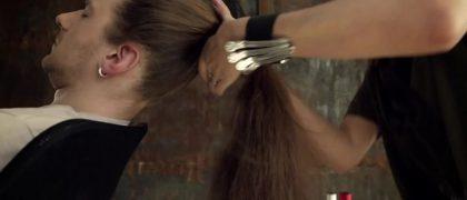 """#FRIDAYFUNNY: THE """"HAIR"""" VIOLIN…no…really. London based artist Tadas Maksimovas looked at a man's long…"""