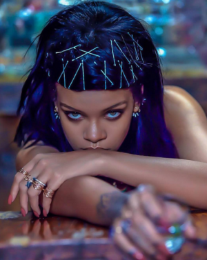 rihanna blue hair2